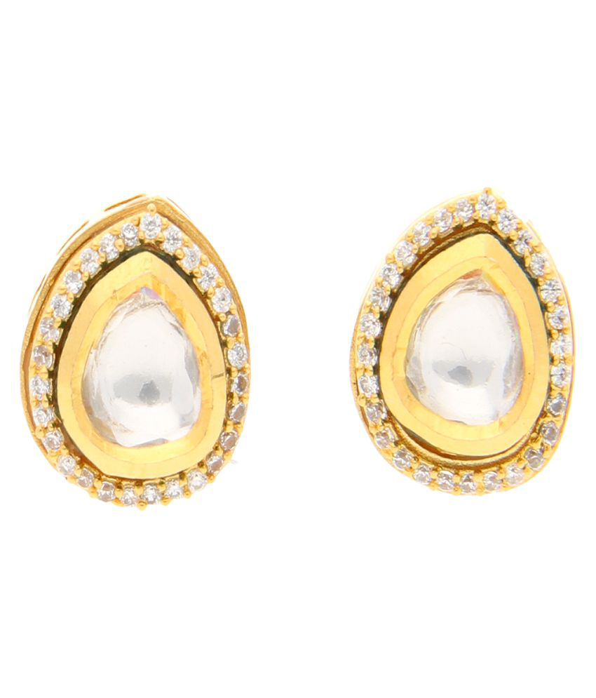 Aretha Jewels 92.5 Yellow Gold None Studs