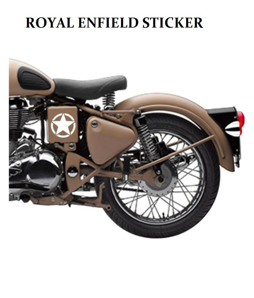 autofy 5 point star circle royal enfield tank body sticker universal rh snapdeal com