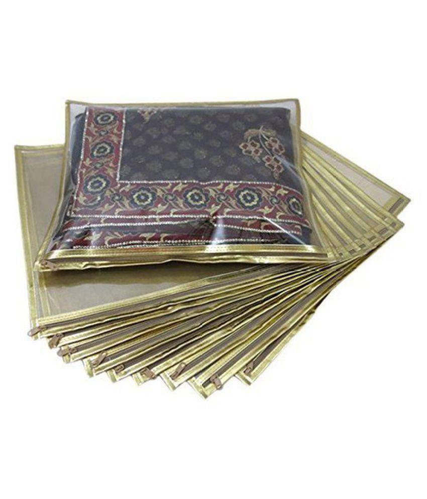 MANAN ENTERISE Gold Saree Covers - 10 Pcs