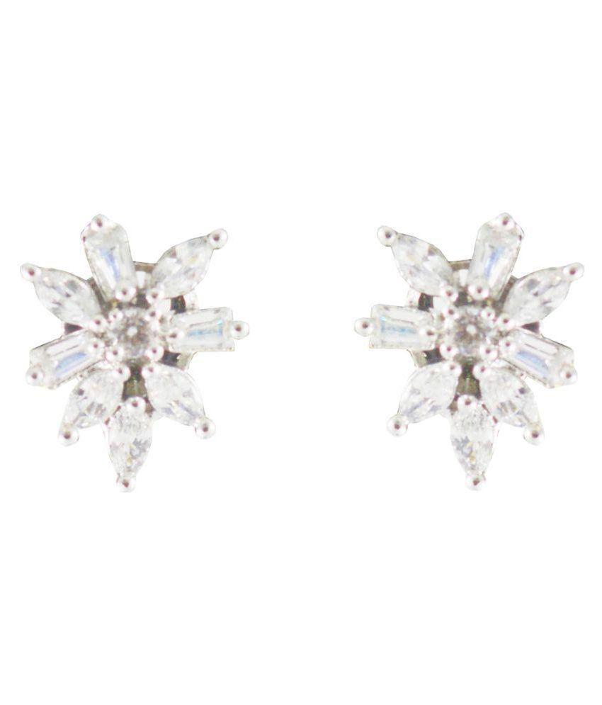 Rejewel Daily Wear American Diamond Earrings