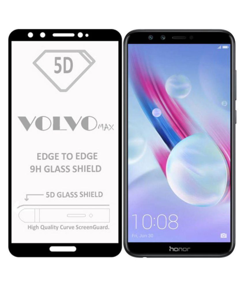 Honor 9 Lite 5D Tempered Screen Guard By Volvo Max Full Glue with Precise Curve Edges