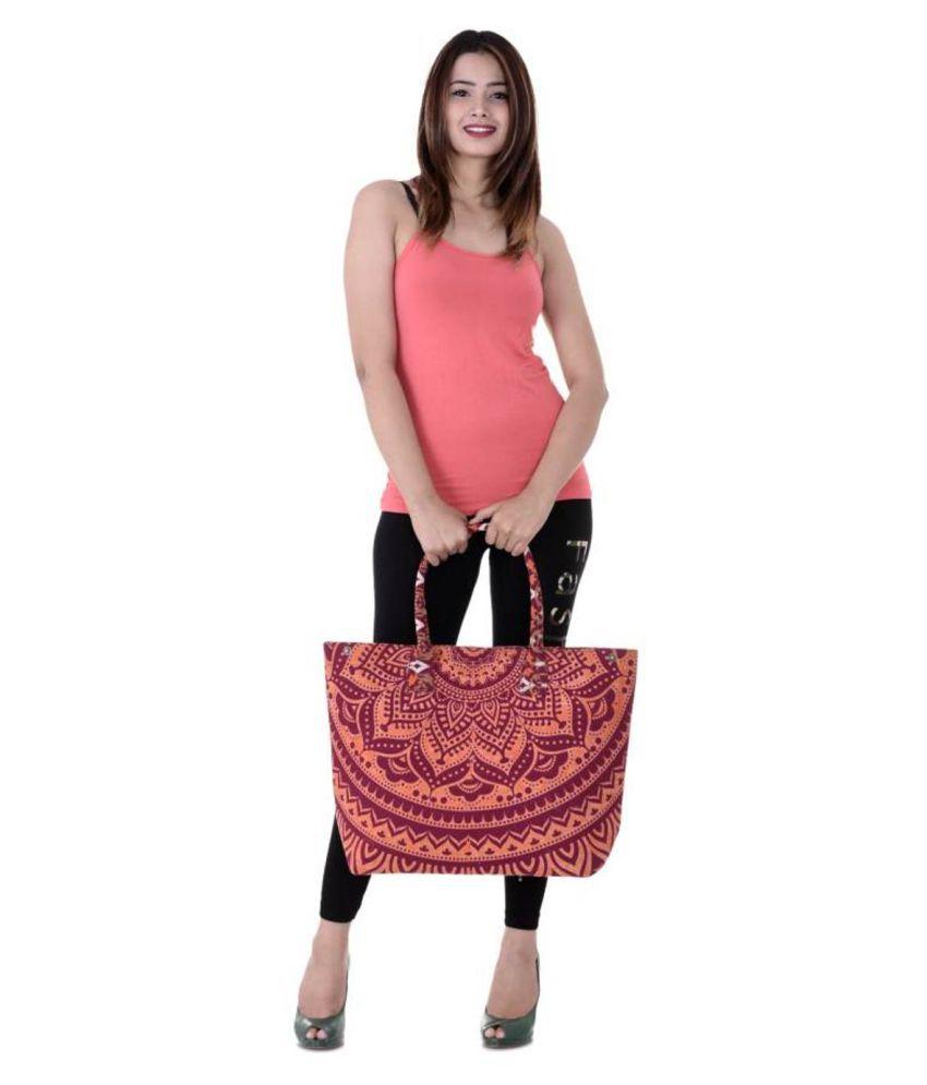Handicraft-Palace Maroon Shopping Bags - 1 Pc
