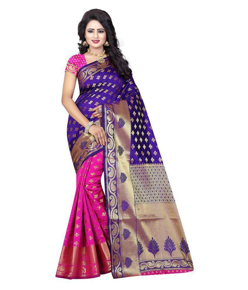 f302acad4 Indian Fashionista Purple and Beige Banarasi Silk Saree - Buy Indian  Fashionista Purple and Beige Banarasi Silk Saree Online at Low Price -  Snapdeal.com