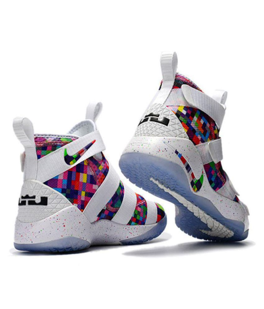 5bff52502d55 Nike Lebron Soldier XI 11 White Basketball Shoes - Buy Nike Lebron ...