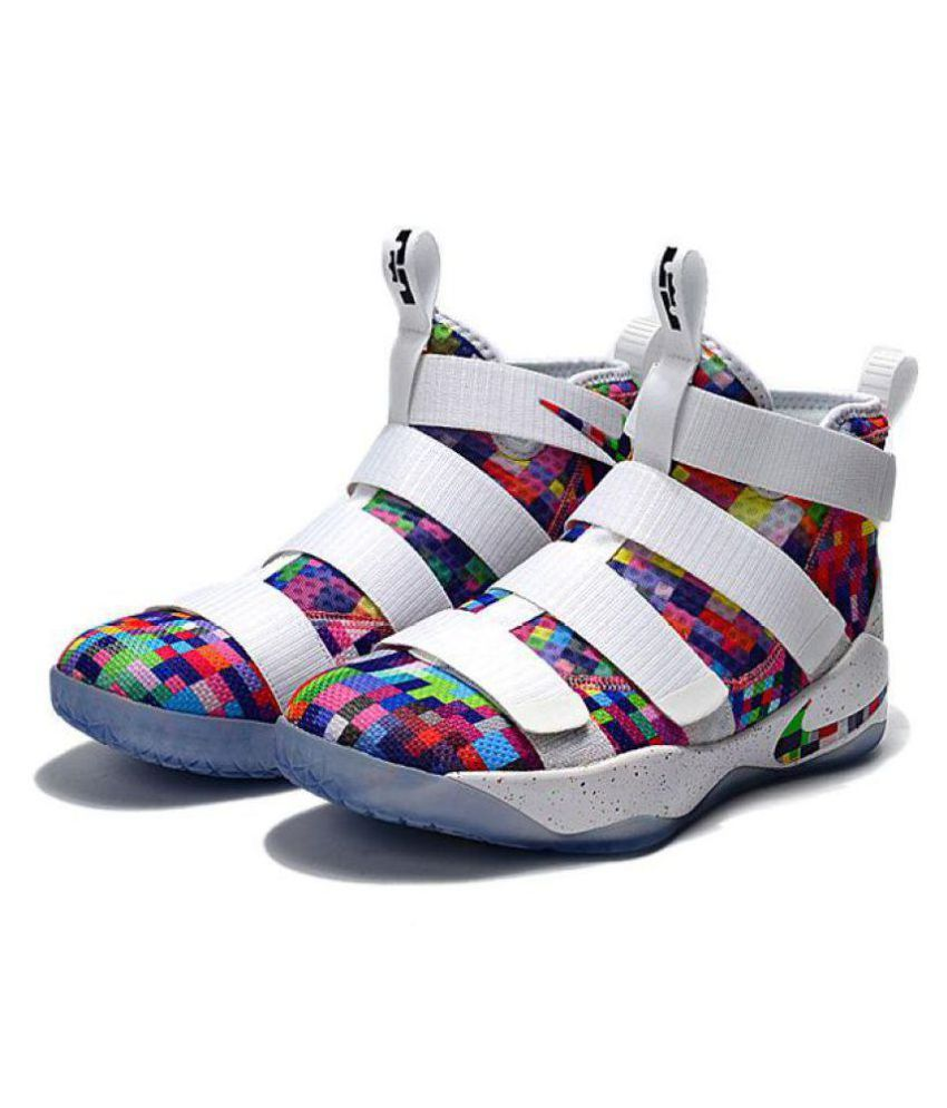 reputable site 3ecb7 c1305 ... Nike Lebron Soldier XI 11 White Basketball Shoes ...