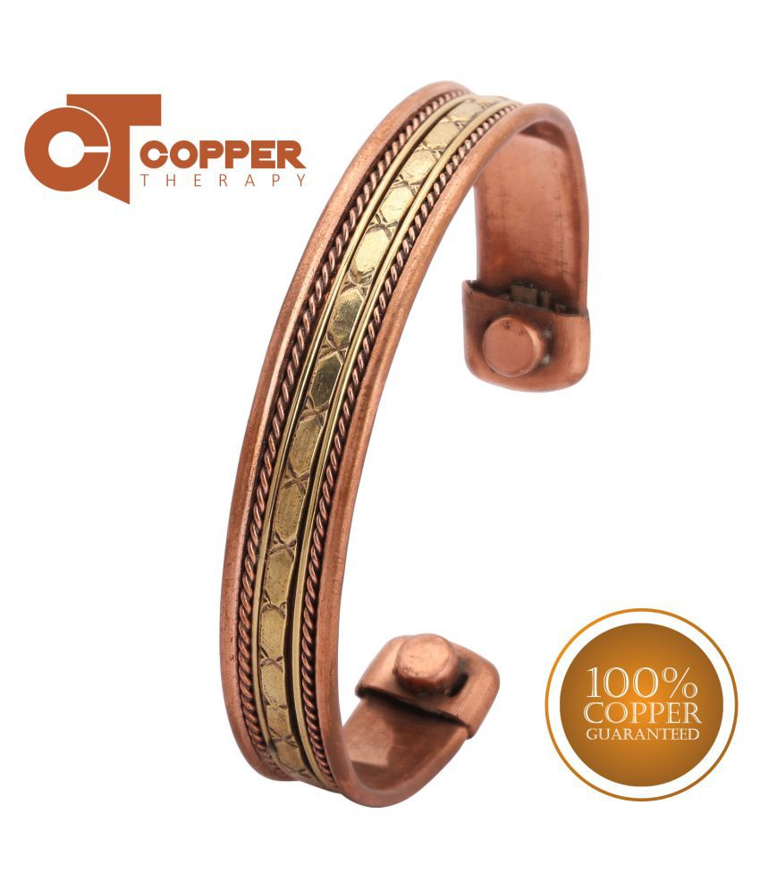 Copper Therapy Unisex 100% Solid Pure Copper Magnetic Therapy Bracelet With Healing Magnets Arthritis