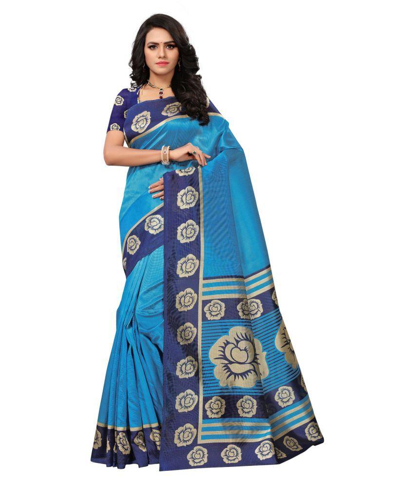 Femiro Fab Blue Mysore Silk Saree