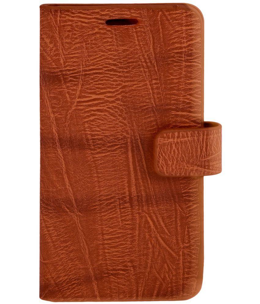 Micromax Canvas Spark 3 Flip Cover by Zocardo - Brown