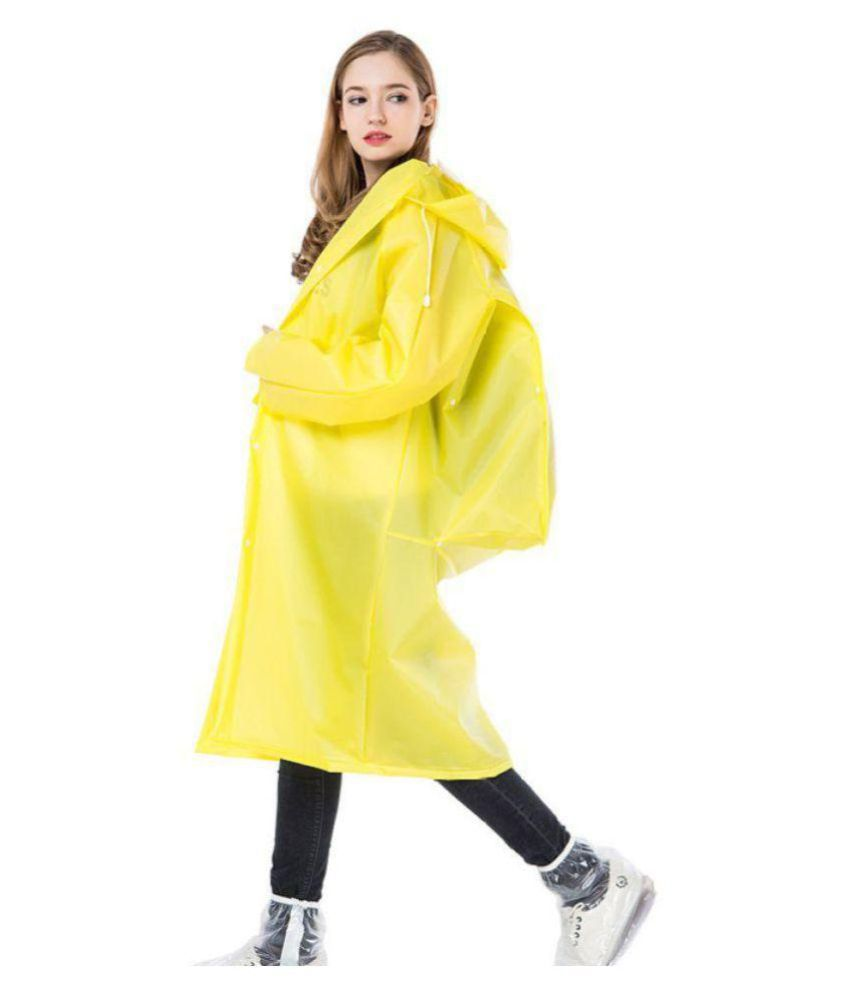 Kamalife Waterproof Long Raincoat - Yellow