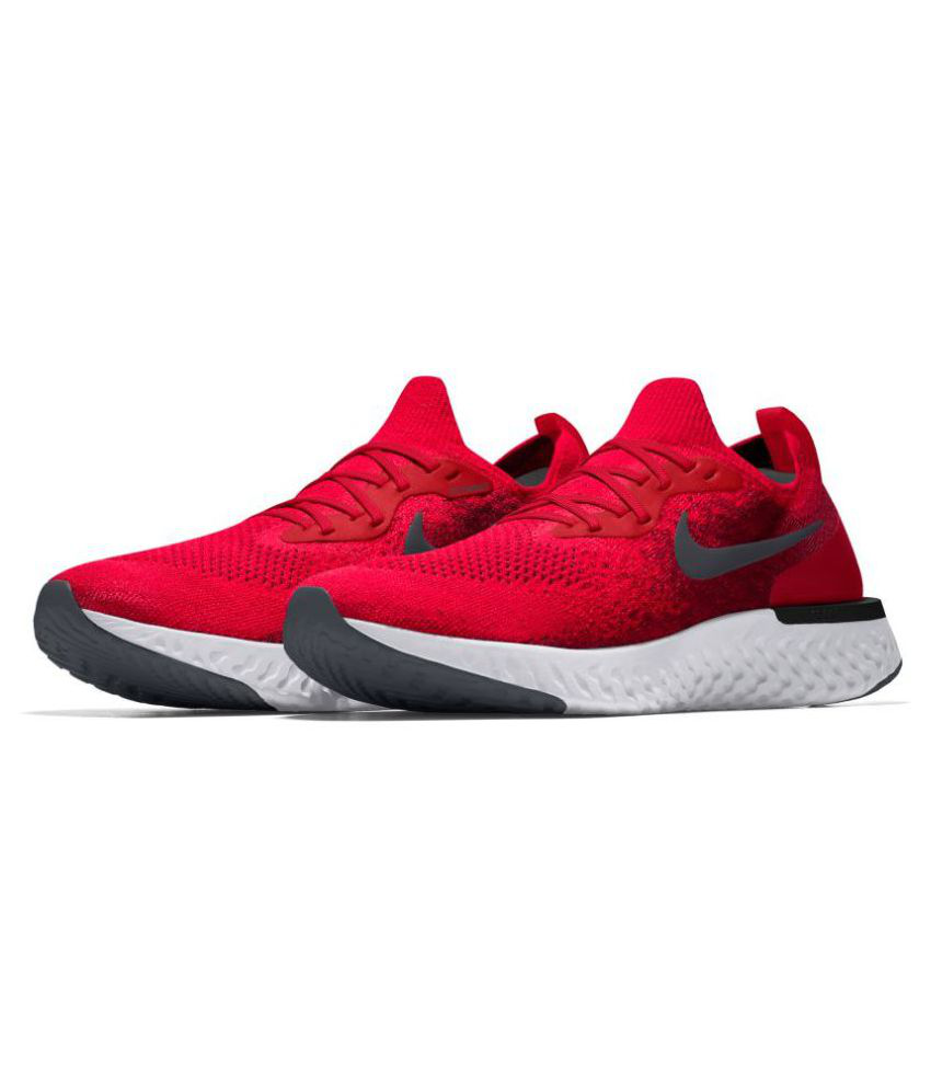 c3a227f49347c Nike Epic React Flyknit Red Running Shoes - Buy Nike Epic React Flyknit Red  Running Shoes Online at Best Prices in India on Snapdeal