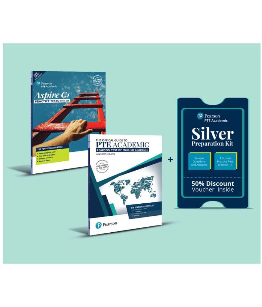 PTE Academic Official Guide & Aspire C1 with 50% discount on Offcial Online  Silver Test Preparation Kit