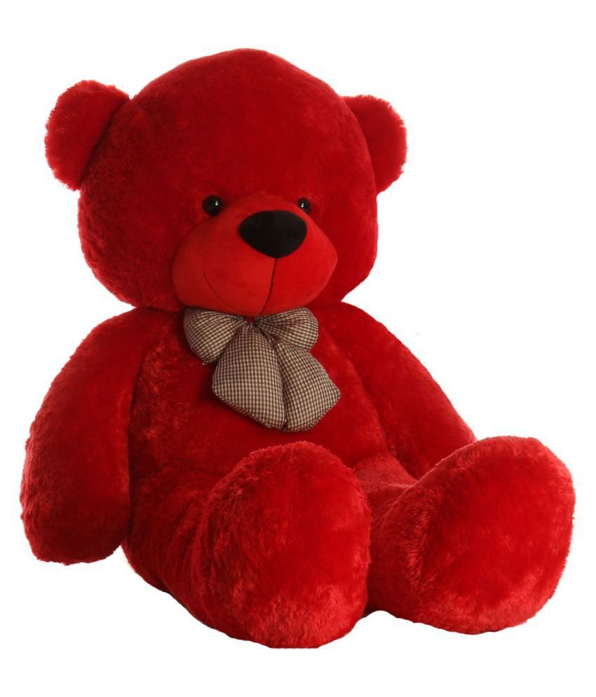 avs 5 feet stuffed spongy huggable cute teddy bear 152 cm red