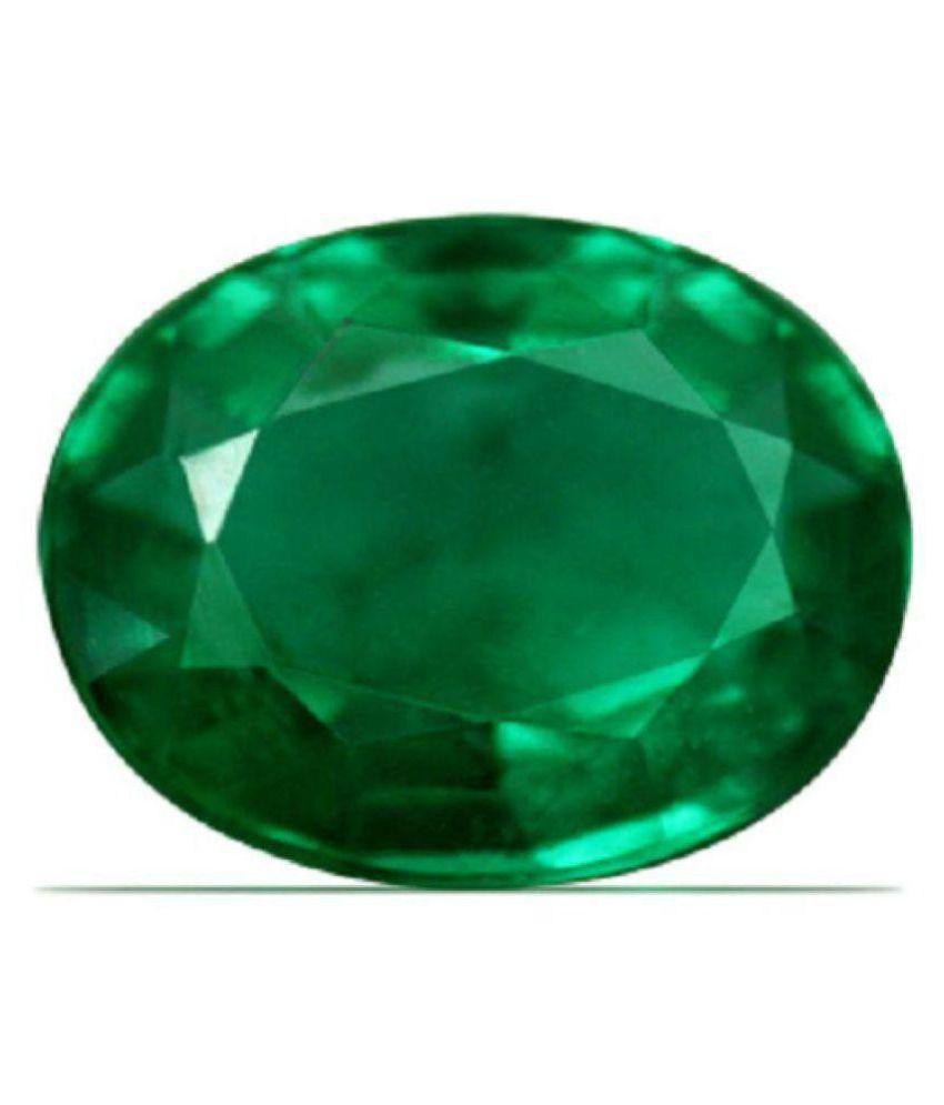 FeelTouchMart 6.75 -Ratti IGL Green Emerald Precious Gemstone