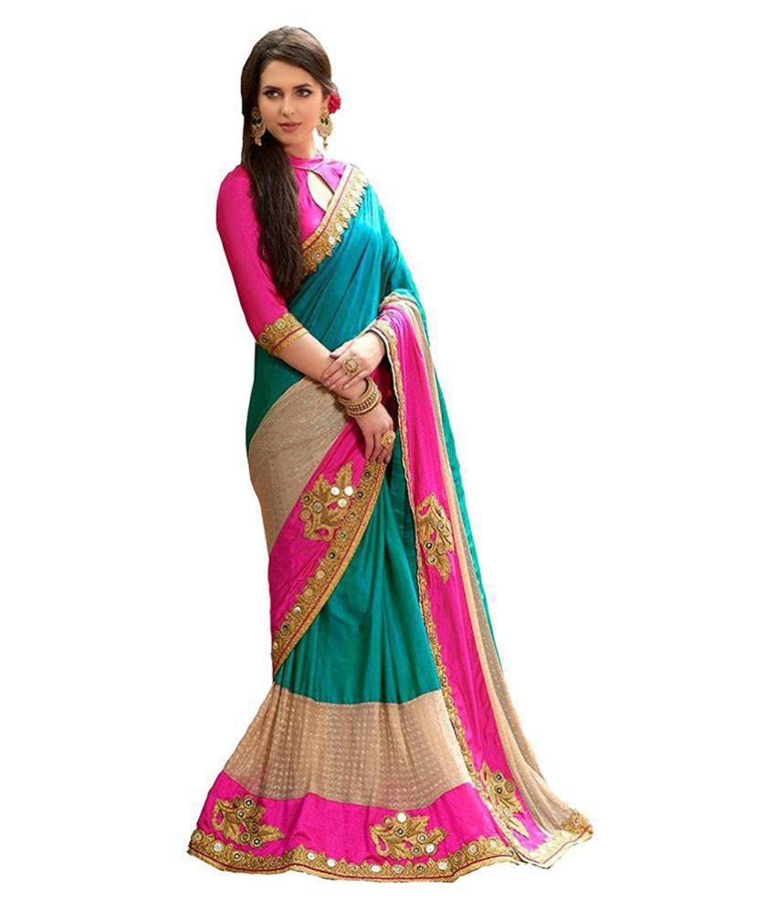 85a8e04222 Zofey Bollywood Designer Sarees Green and Beige Georgette Saree - Buy Zofey  Bollywood Designer Sarees Green and Beige Georgette Saree Online at Low  Price ...