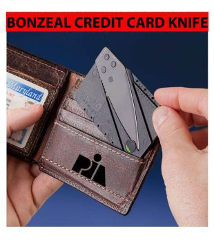 Bonzeal Credit Card Sharp Folding Safety Portable Pocket Wallet Knife / Army Knife