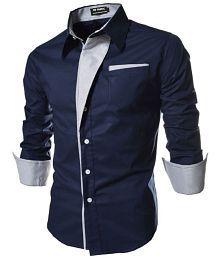 Ud Fabic Blue Slim Fit Shirt Single