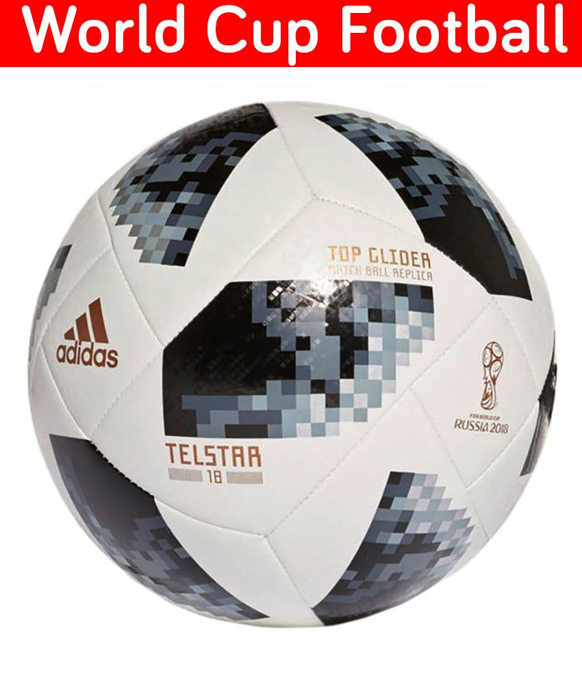 bee926edc07a1 Adidas 2018 FIFA World Cup Russia Telstar Football   Ball Size- 5  Buy  Online at Best Price on Snapdeal