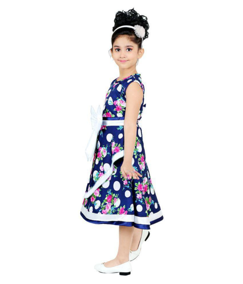 757279ca8a ... STYLOKIDS FESTIVE AND PARTY WEAR STYLISH FLAIR PRINCESS BLUE FROCK ...