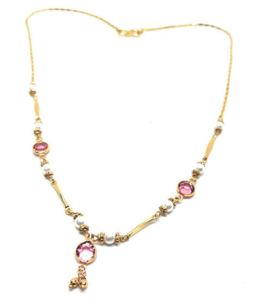 royal imitation golden alloy beautiful delicate necklace set for women