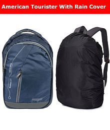 American Tourister Navy Blue Backpack