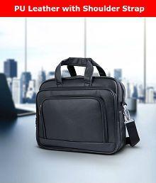Tuscany Black Premium P.U. Leather Office Laptop Bag