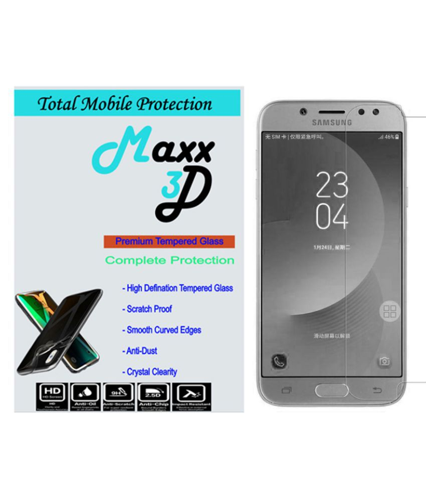 Samsung Galaxy J7 Tempered Glass Screen Guard By MAXX3D