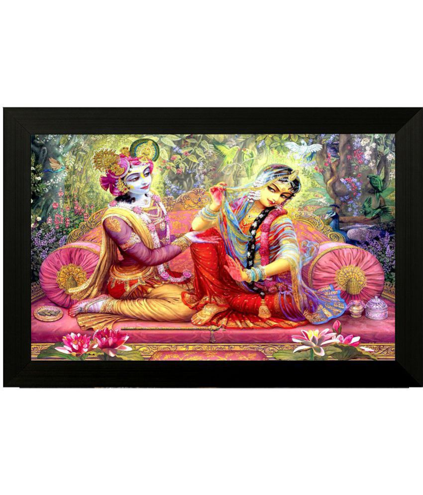 Style as Fashion Radha Krishna Painting MDF Painting With Frame