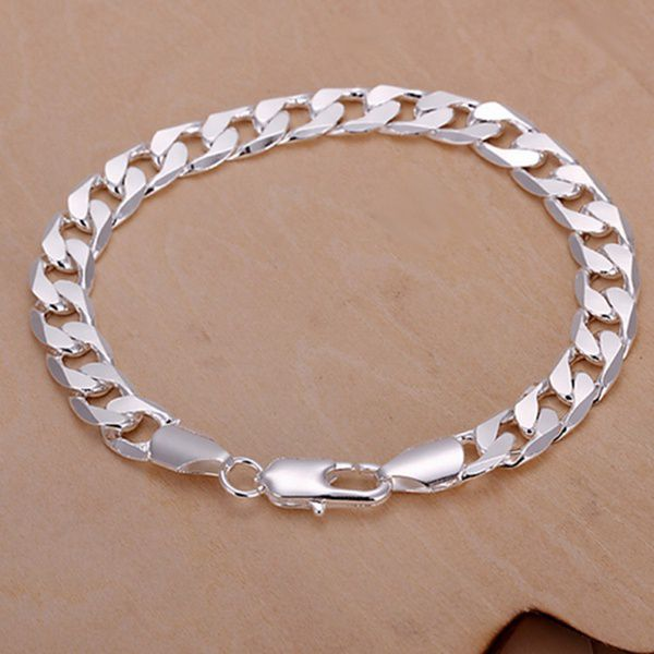 Man and Woman Summer Splended Chain Width 8MM Europe and America Style 18K Gold Necklace Silver Plated Bracelet Gold Chain