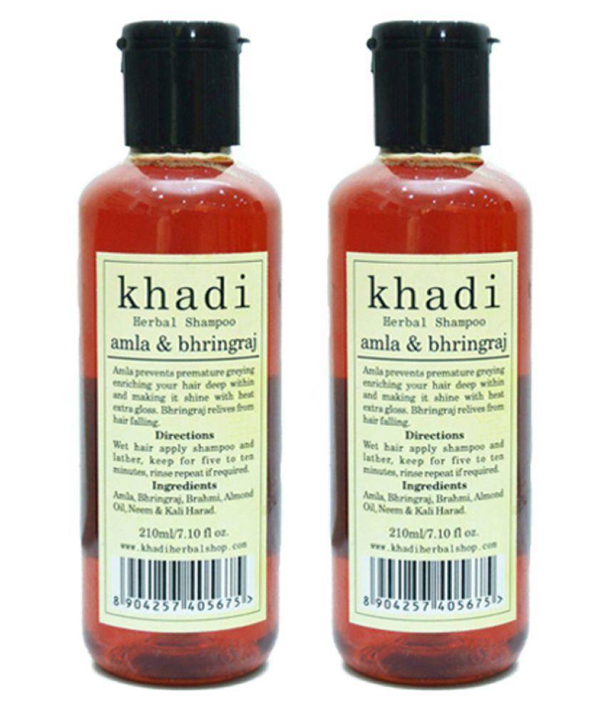 Vagad's Khadi AMLA & BHRINGRAJ Shampoo 210 ml Pack of 2