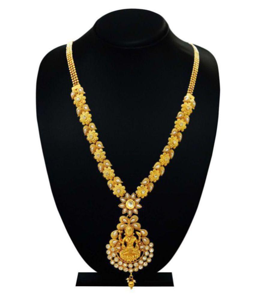 Antique Gold N Jadtar Set: Arts Chetan Antique Gold Plated Artificial Rani Haar