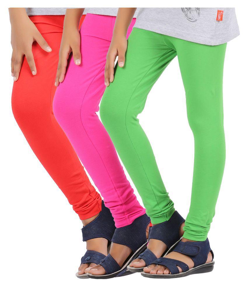 888388c42 GREENWICH GIRLS RED, FUCHSIA AND GREEN LEGGINGS - PACK OF 3 - Buy GREENWICH GIRLS  RED, FUCHSIA AND GREEN LEGGINGS - PACK OF 3 Online at Low Price - Snapdeal
