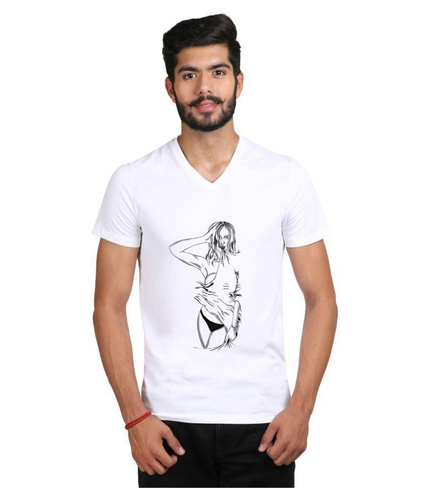 Snoby White V-Neck T-Shirt