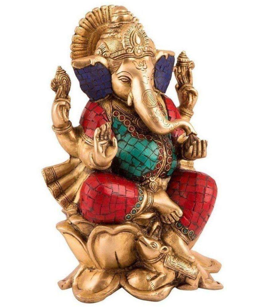 JAIDEN Gajanan Maharaj Brass Idol