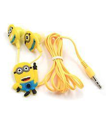 Sheeshaa Minion In Ear Wired Earphones With Mic
