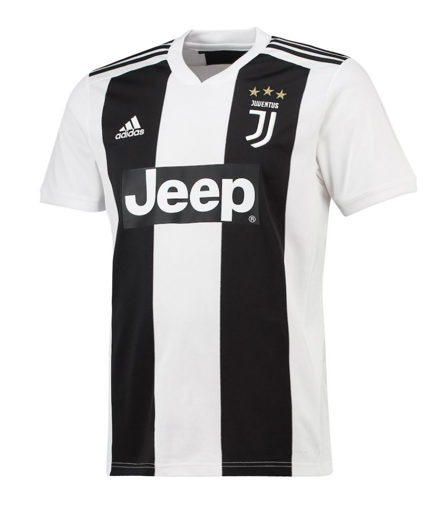 watch a7590 4255f Juventus Ronaldo Home Jersey Black & White
