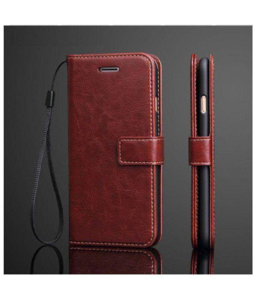 los angeles 22345 373b2 Xiaomi Redmi Note 5 Pro Flip Cover by Dirar - Brown