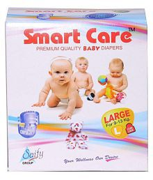 Saify Healthkart presents Smart Care super absorbent, pull up, skin friendly, premium quality large size baby diaper 90 Pcs