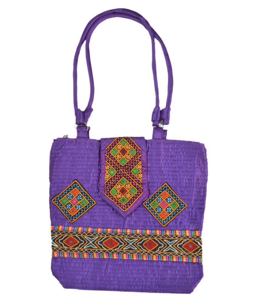 EMBROIDERED WOMEN HANDBAG Multi Satin Sling Bag