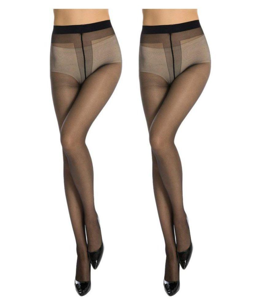 3f0937f0cbc Golden Girl Sheer Black Panty Hose Stockings Pack Of 2  Buy Online at Low  Price in India - Snapdeal