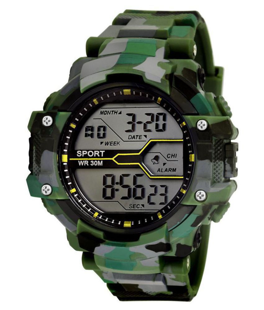 Army Print (Green & Grey) Grandson Kids Digital Watch For ...