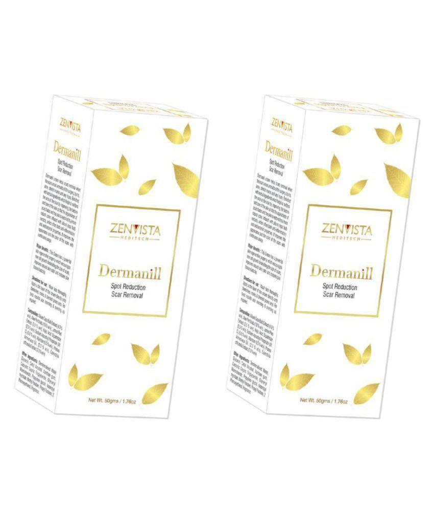 Zenvista Meditech Dermanill Best Scar Removal & Spot Reduction Cream ,Contains Vitamin C Removes Dark Scars Day Cream 50 gm Pack of 2