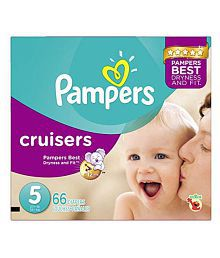 Pampers Cruisers Diapers Size 5, Super Pack, 66 Count