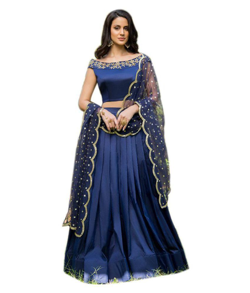 37da48dd47 Ethnic Wings Blue and Grey Silk Semi Stitched Lehenga - Buy Ethnic Wings  Blue and Grey Silk Semi Stitched Lehenga Online at Best Prices in India on  Snapdeal