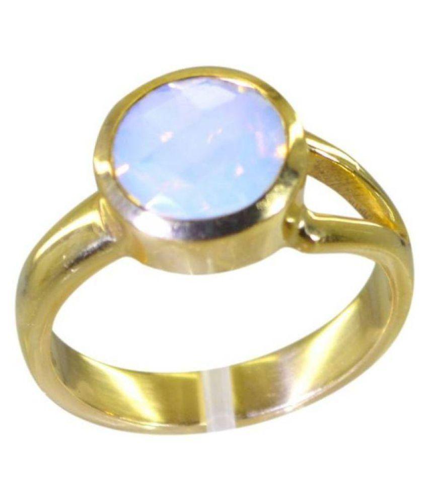 Jaipur Gemstone 14k Yellow Gold Opal Ring
