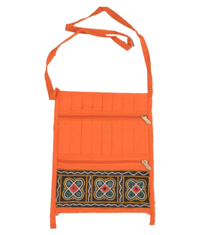 TRADITIONAL WOMEN HANDBAG Multi Satin Sling Bag