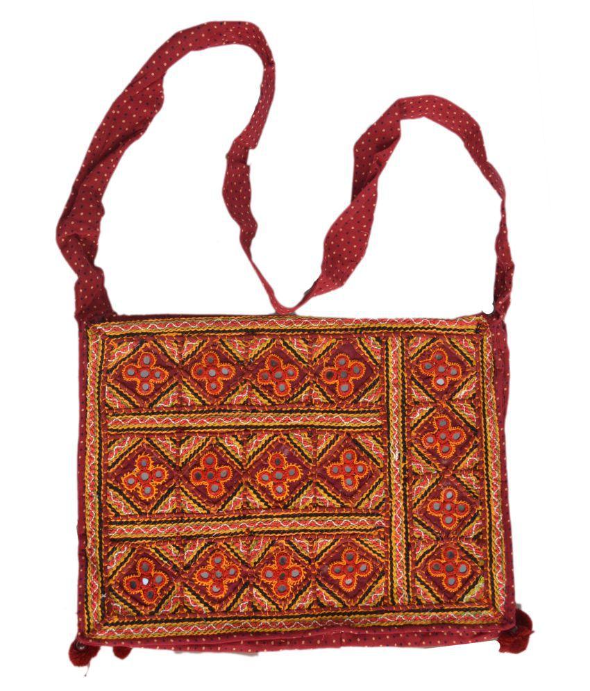 WOMEN HANDBAGS Multi Cotton Shoulder Bag