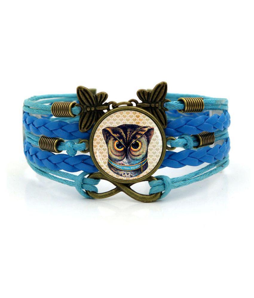 Kamalife Fashion Brown Alloy Letter Bling Bracelet Accessories Gift