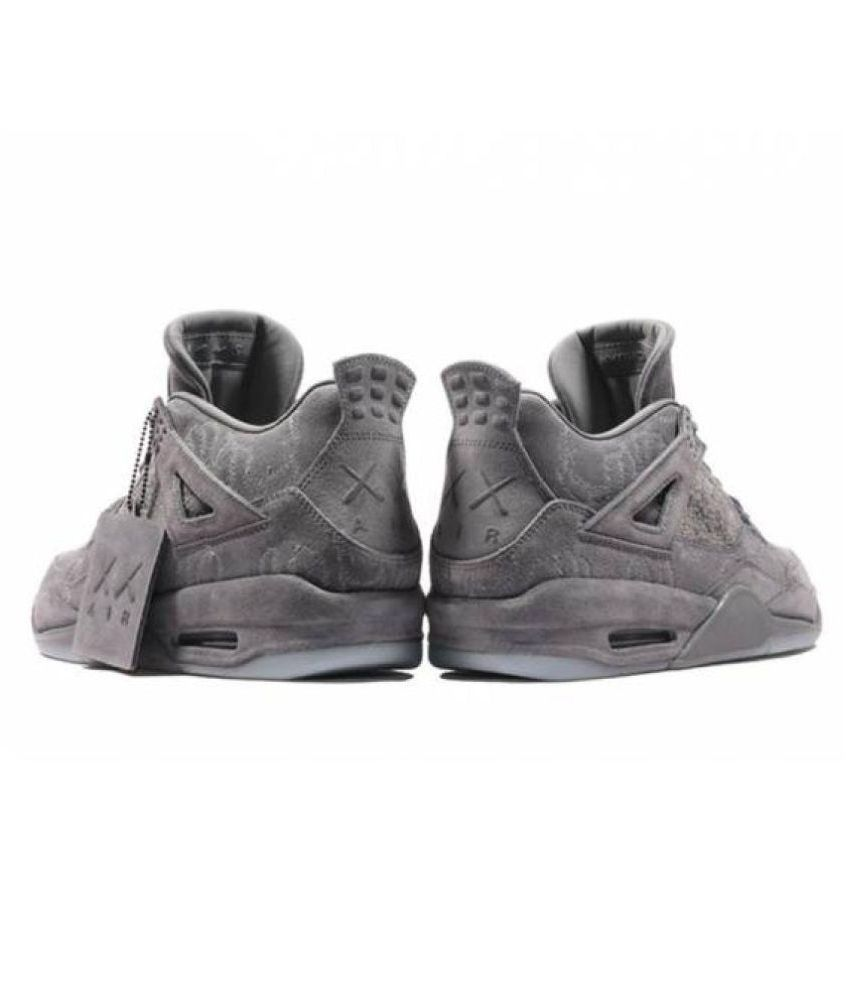 340ceb1f975b4b AIR JORDAN KAWS 4 Gray Basketball Shoes - Buy AIR JORDAN KAWS 4 Gray ...