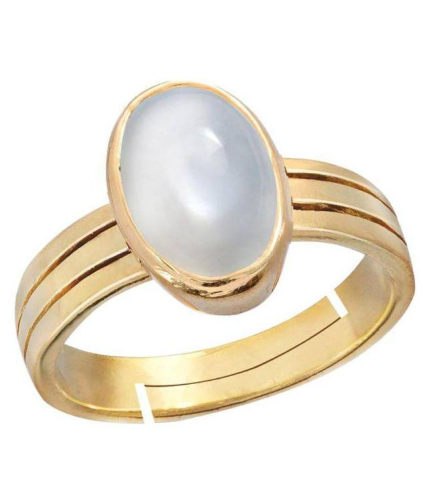 Jaipur Gemstone 18k Yellow Gold Moonstone Ring