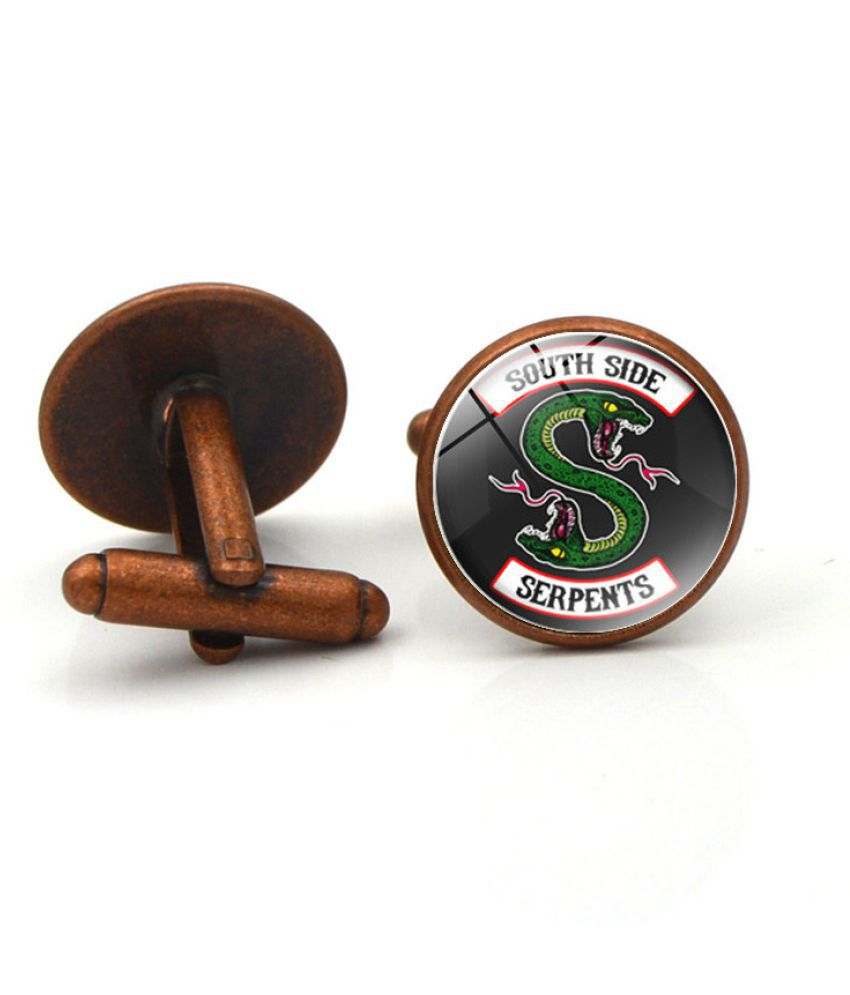 Kamalife Fashion Brown Alloy Letter Gem Cufflinks&Buttons Jewellery Accessories Gift